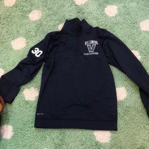 Villanova club lacrosse quarter zip size small